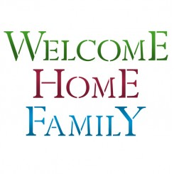 SCHABLONE G 21x29.7cm. - WELCOME HOME FAMILY