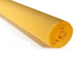 KREPPPAPIER 180g. 50cm. x 2.5m._NATURAL ROSE YELLOW 578