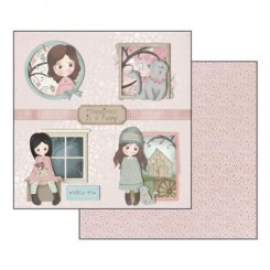 SCRAPBOOKING PAPER SHEET - EMMA&CAMILLE SHEET HAPPINESS
