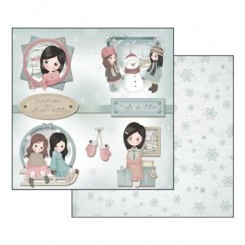 SCRAPBOOKING PAPER SHEET - EMMA&CAMILLE WINTER