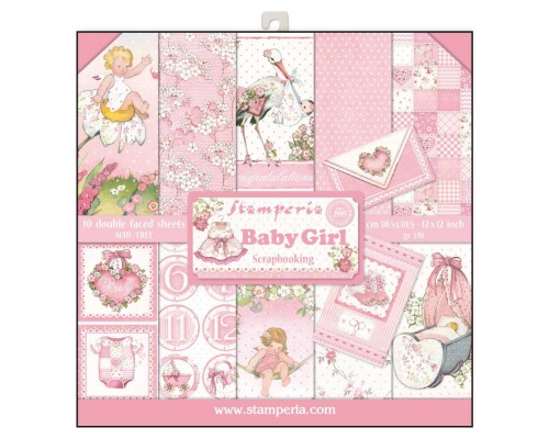 SCRAPBOOKING-BLOCK - BABY GIRL SBBL41